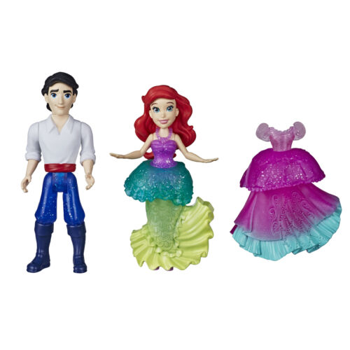 Disney Princess Ariel and Prince Eric Collectible Small Doll Royal Clips Toys