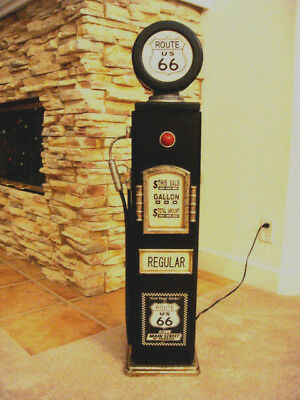 """42/"""" Route 66 No Smoking Gas Pump Cabinet with light Man Cave//Gameroom Decor."""