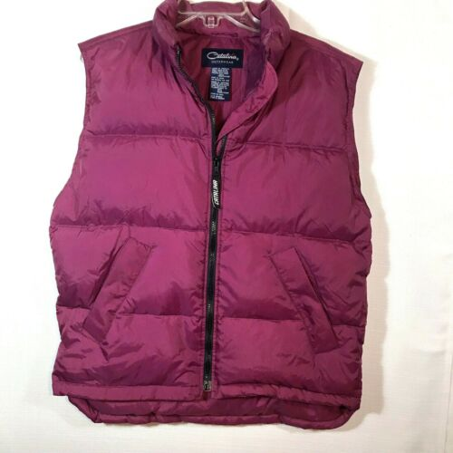Womens Catalina Outerwear Quilted Down Vest Sz M Z