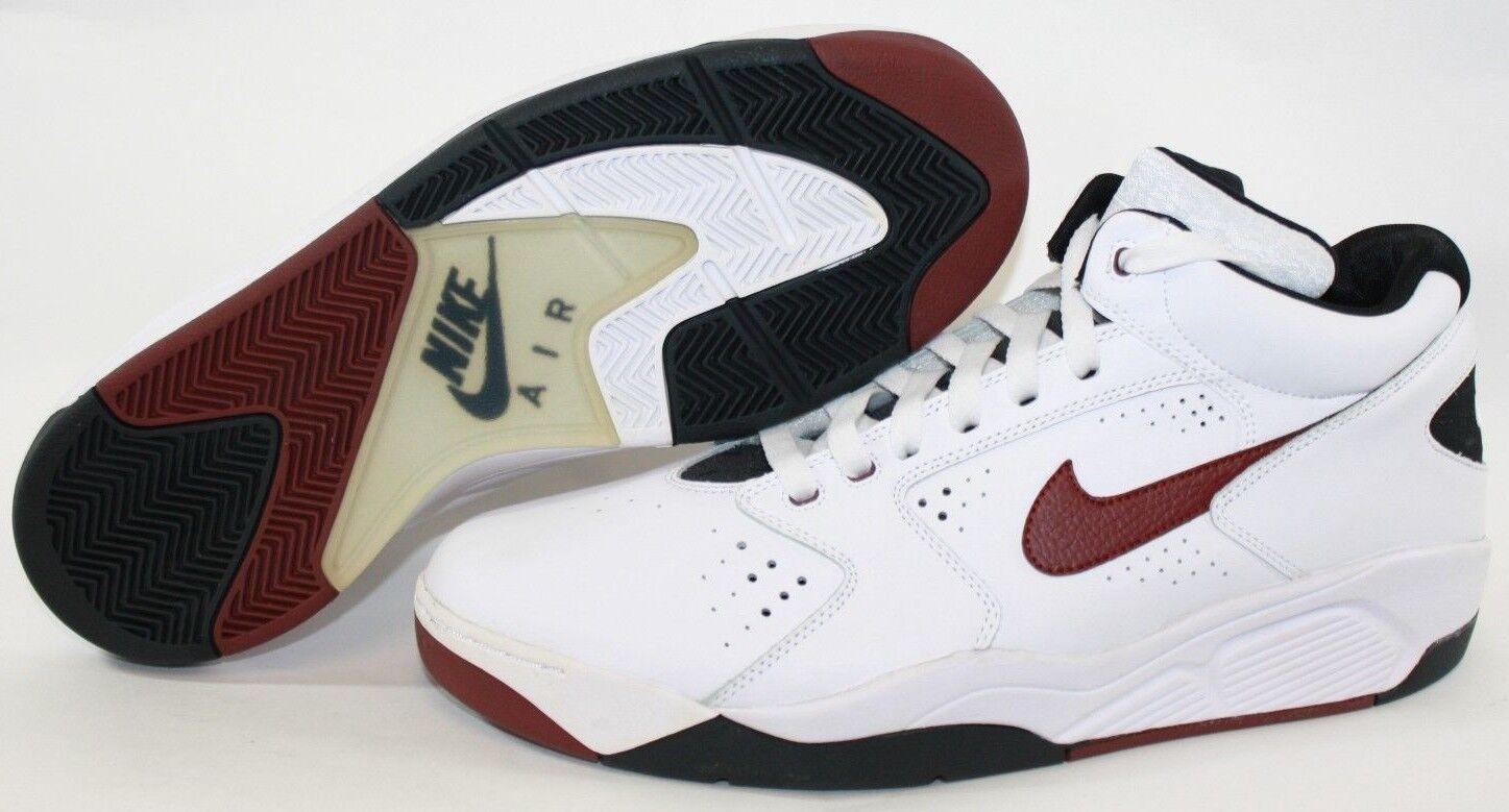 NEW Mens NIKE Flight Lite '15 806392 100 White Team Red Black Sneakers Shoes