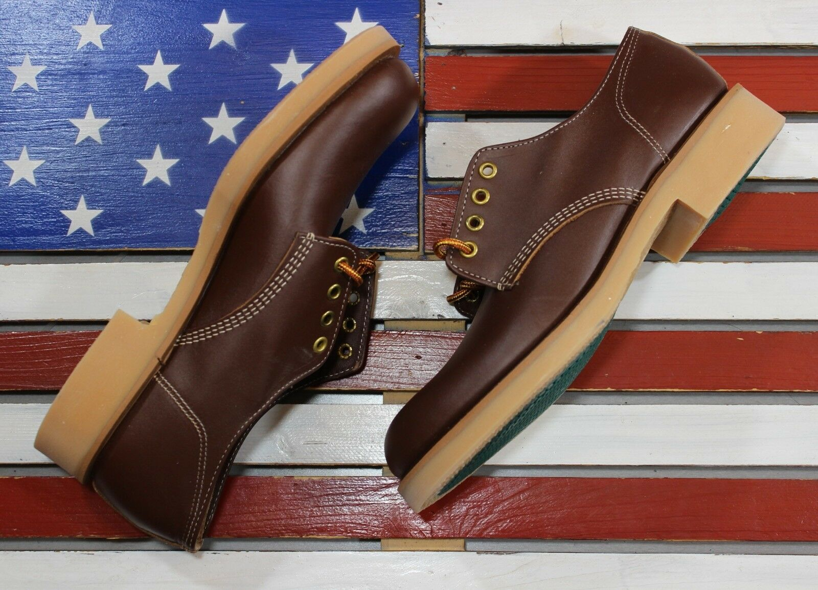 THOROGOOD Beloit Low Low Low Oxford Soft Brown Work Stivali Union Made in America  A -452 30759e