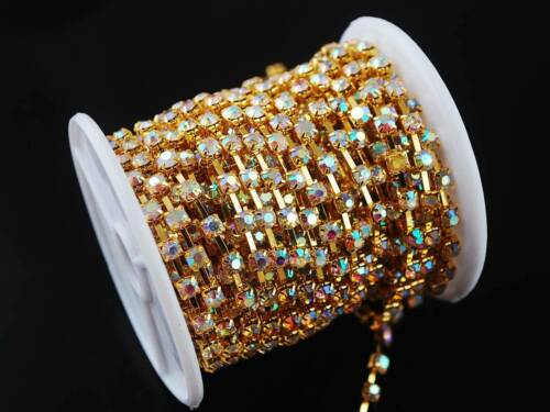 10yards SS6 SS8 SS10 SS12 SS16 Crystal Rhinestones Trim Sparse Cup Claw Chains