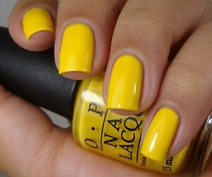 OPI-Peanuts-GOOD-GRIEF-Sunny-Yellow-Creme-Nail-Polish-Lacquer-Charlie-Brown-FA4