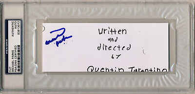 Cards & Papers Aggressive Michael Parks Signed Slabbed Django Unchained Movie Script Cover Cut Psa/dna Great Varieties Movies