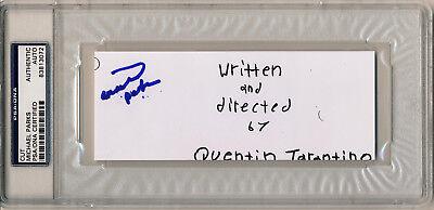 Movies Aggressive Michael Parks Signed Slabbed Django Unchained Movie Script Cover Cut Psa/dna Great Varieties Autographs-original