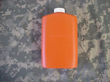US MILITARY PLASTIC 1 PINT PILOT FLASK / CANTEEN, ORANGE WITH WHITE CAP