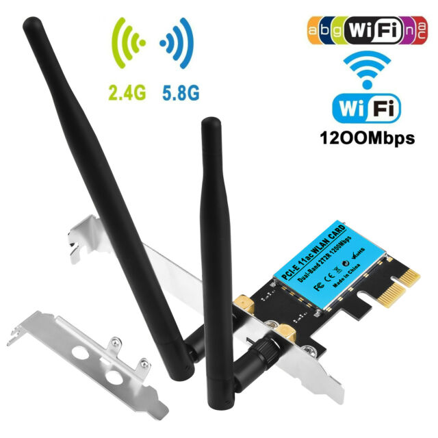 450Mbps PCI-E Wireless WiFi Card 2.4G//5G Dual Band Network Adapter for Desktop