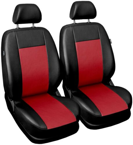 Leatherette seat covers fit Ford Fusion 1+1 black//red