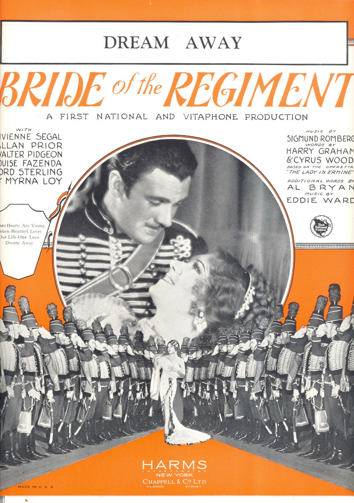 Bride Of The Regiment Notenblatt Dream Away Myrna Loy Vivienne Segal