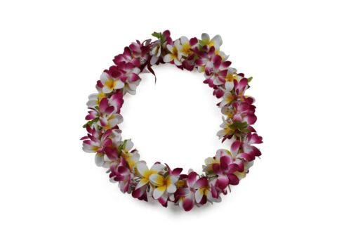 Hawaiian Lei Party Luau Floral Plumeria Flower Dance Hawaii Pink Yellow White
