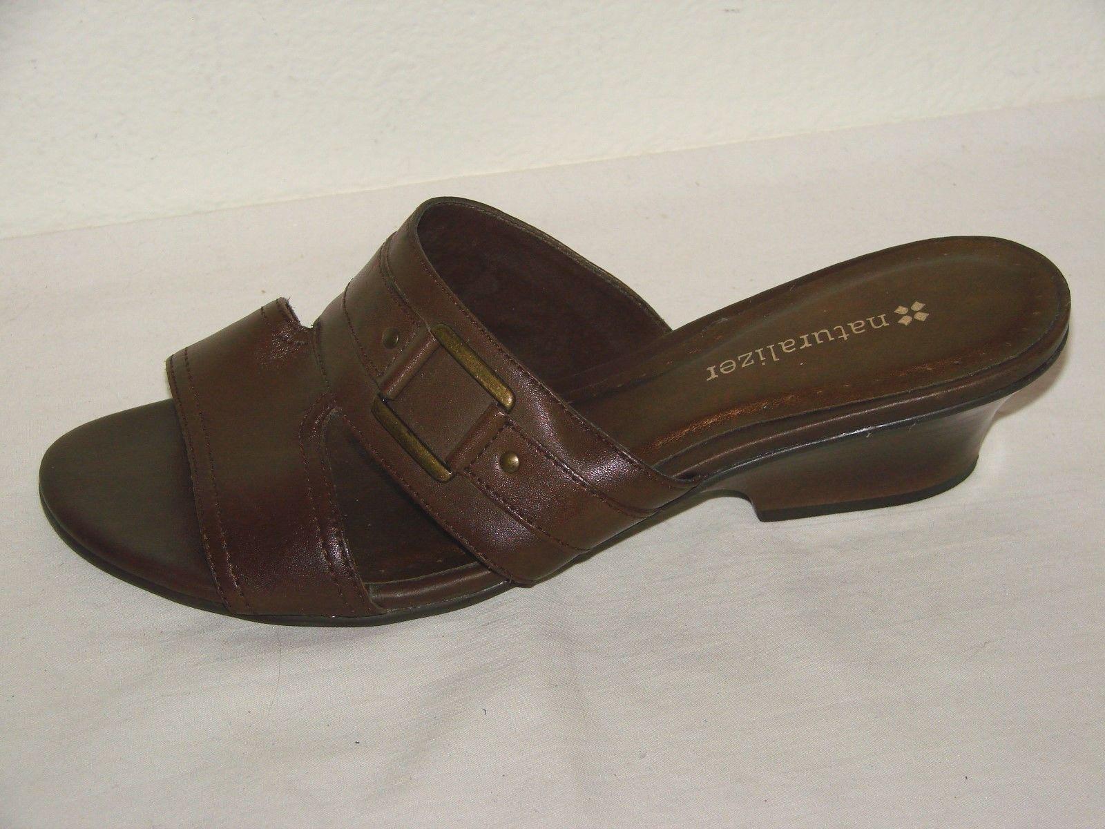 Naturalizer Womens Brown Leather Slide Sandal Shoe Size - Size Shoe 6M 7e6014