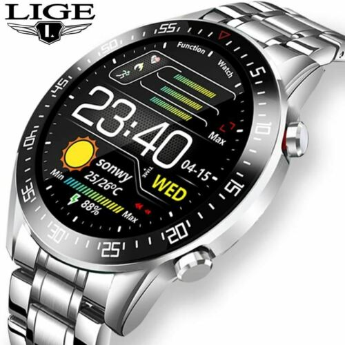 LIGE 2020 touch screen Smart Watches IP68 Waterproof Sports Fitness Watch
