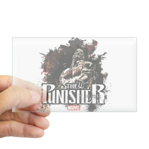 CafePress Punisher Grunge 2 Rectangle Bumper Sticker Car Decal 1337513406