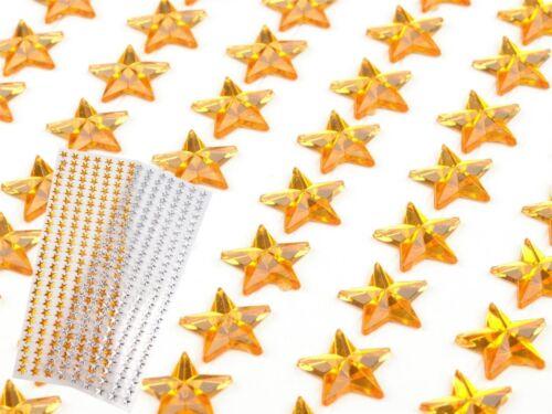 Dekosteine selbstklebend Perlen Blumen Herzen Sterne Halbperlen Scrapbooking