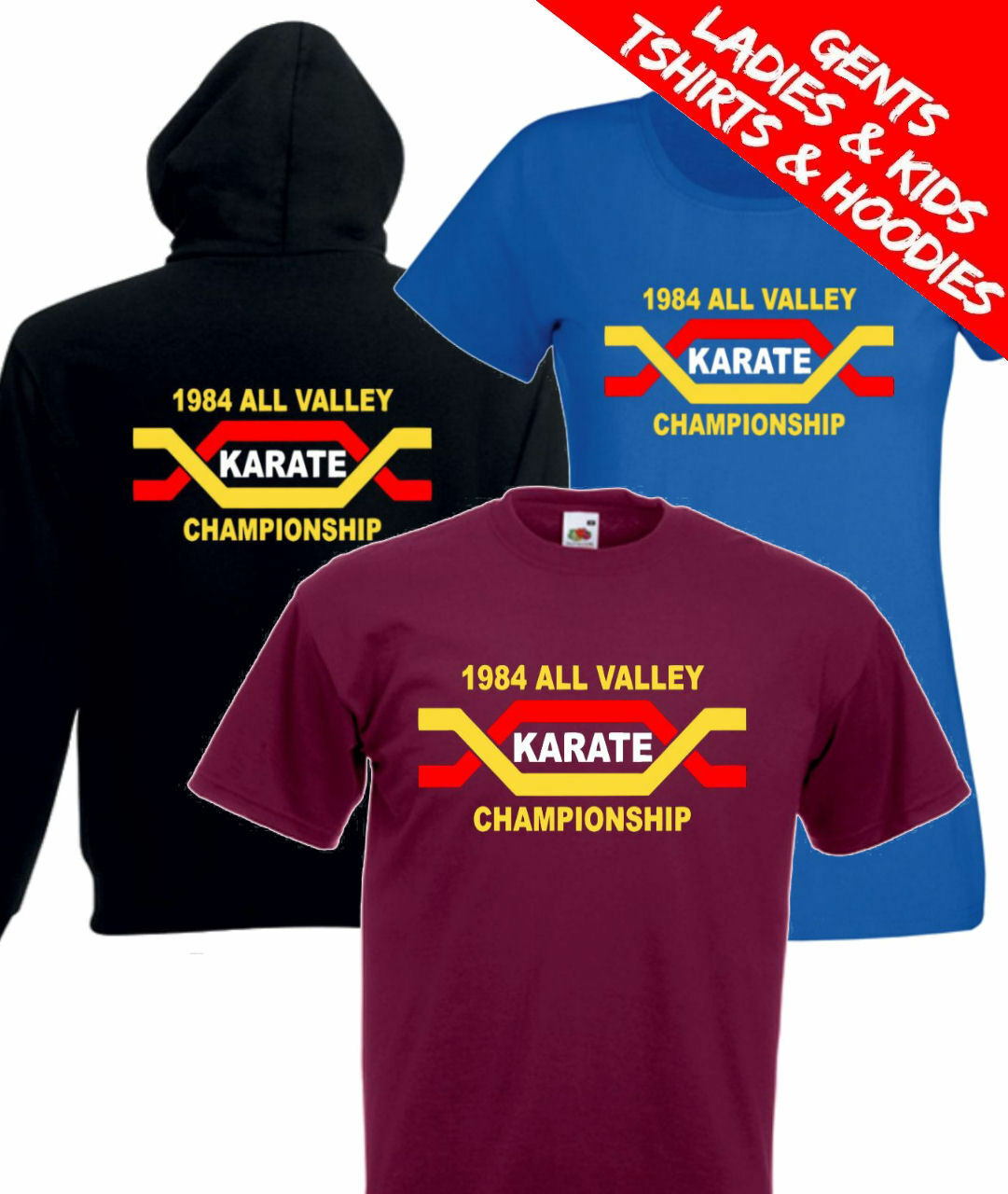 The Karate Kid All Valley Karate Championships Retro Movie T Shirt   Hoodie