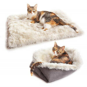 2in1-Foldable-Pet-Cat-Dog-Bed-Blanket-Cushions-House-Puppy-Home-Soft-Warm-Mat