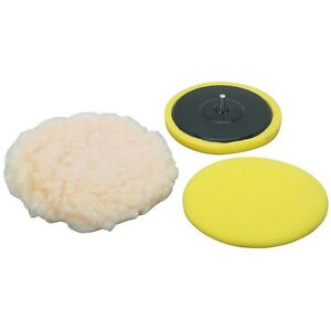 6 Quot Polishing Kit 3 Buffing Pads Drill Attachment Ebay