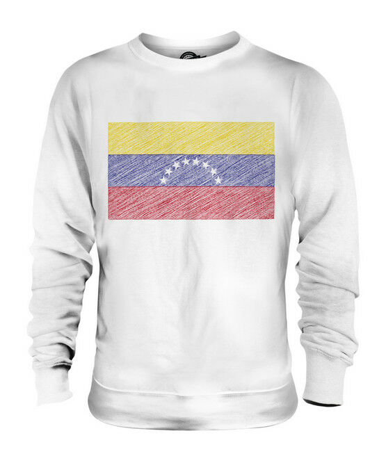 VENEZUELA SCRIBBLE FLAG UNISEX SWEATER  TOP GIFT VENEZUELAN FOOTBALL