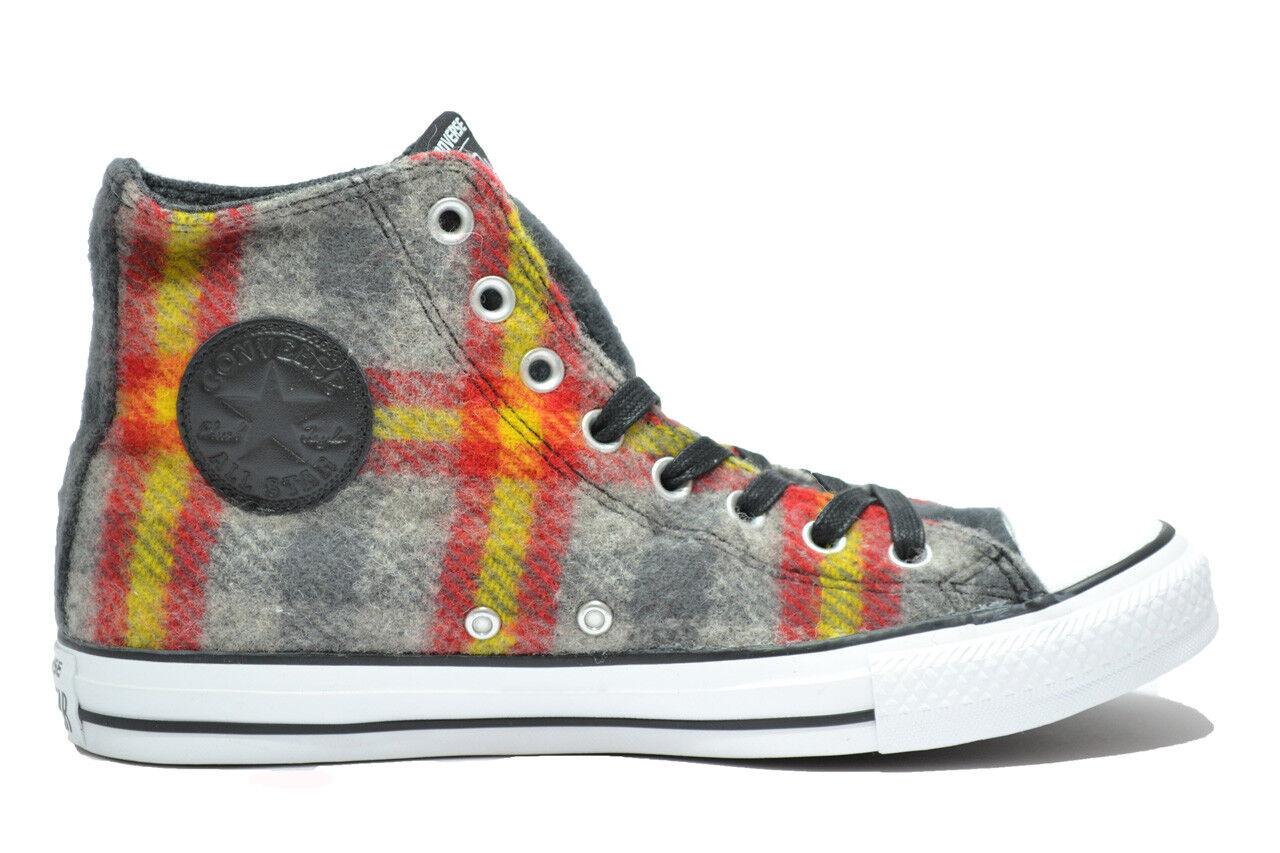 CONVERSE All Star hi grigio scarpe uomo Woolrich limited edition mod. 149455C