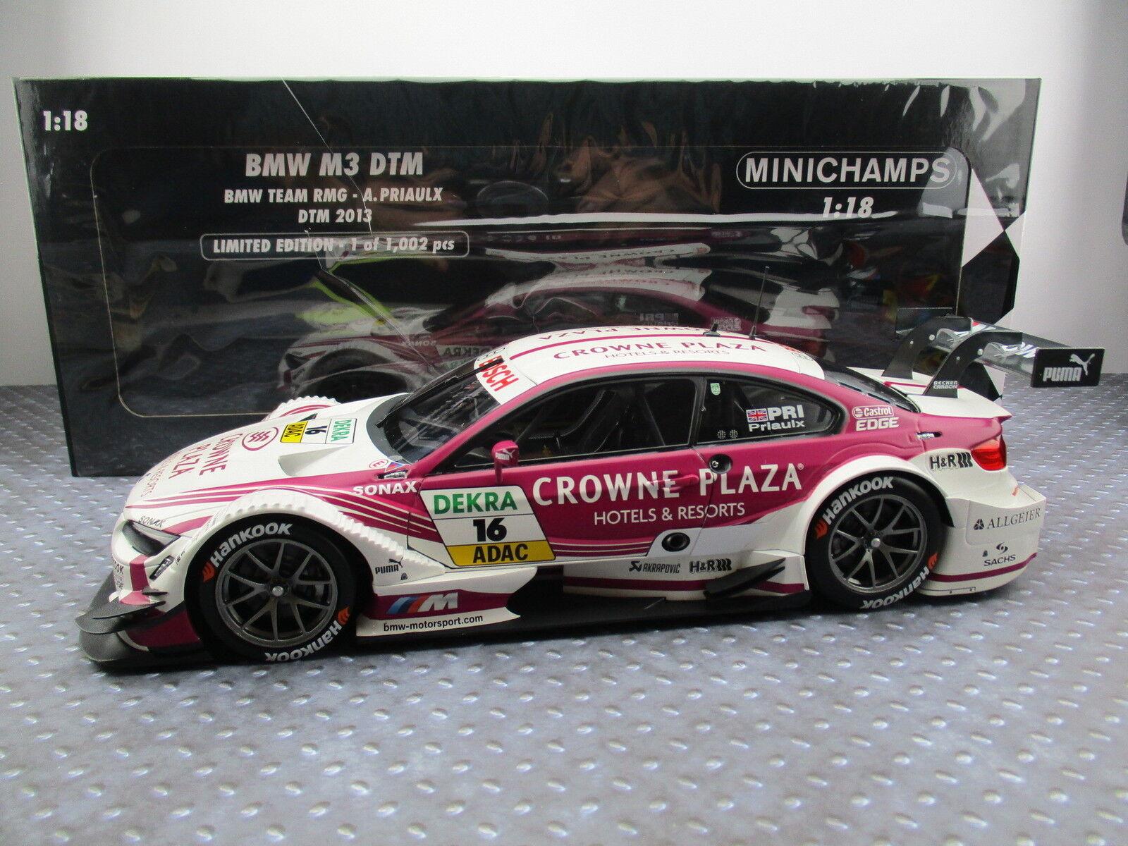 BMW m3 DTM DTM 2013 A. PRIAULX limitato a 1.002 pezzi Minichamps 1 18