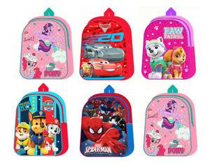 Kids-Boys-Girls-Disney-Backpack-School-Bag-Rucksack-With-Led-Lights-Children