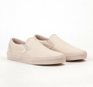 84a15644d5df Vans Classic Slip On (Leather) Whisper Pink Mono Women s Shoes Size ...