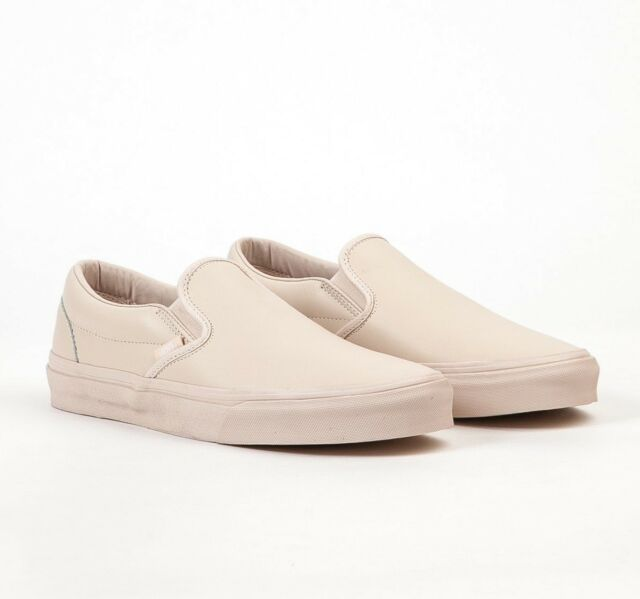 62f611e8434ca6 VANS Classic Slip on DX Leather Whisper Pink mono Women s Shoes 9.5 ...