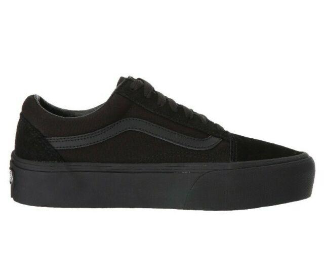 vans old skool platform all black