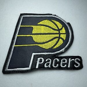 """Indiana Pacers NBA Basketball Sew On 4"""" Patch Embroidered Leatherette Logo"""