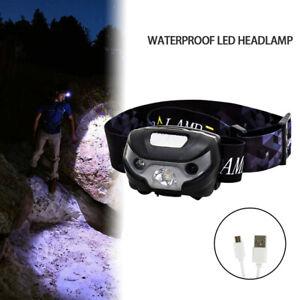 NEW Waterproof Headlight Rechargeable LED Headlamp Head Torch Running Camp DIY