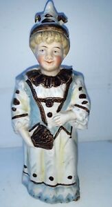 Rare Antique Automata Wobble Head Nodder Bobblehead Nodding Head Bisque Lady Ebay