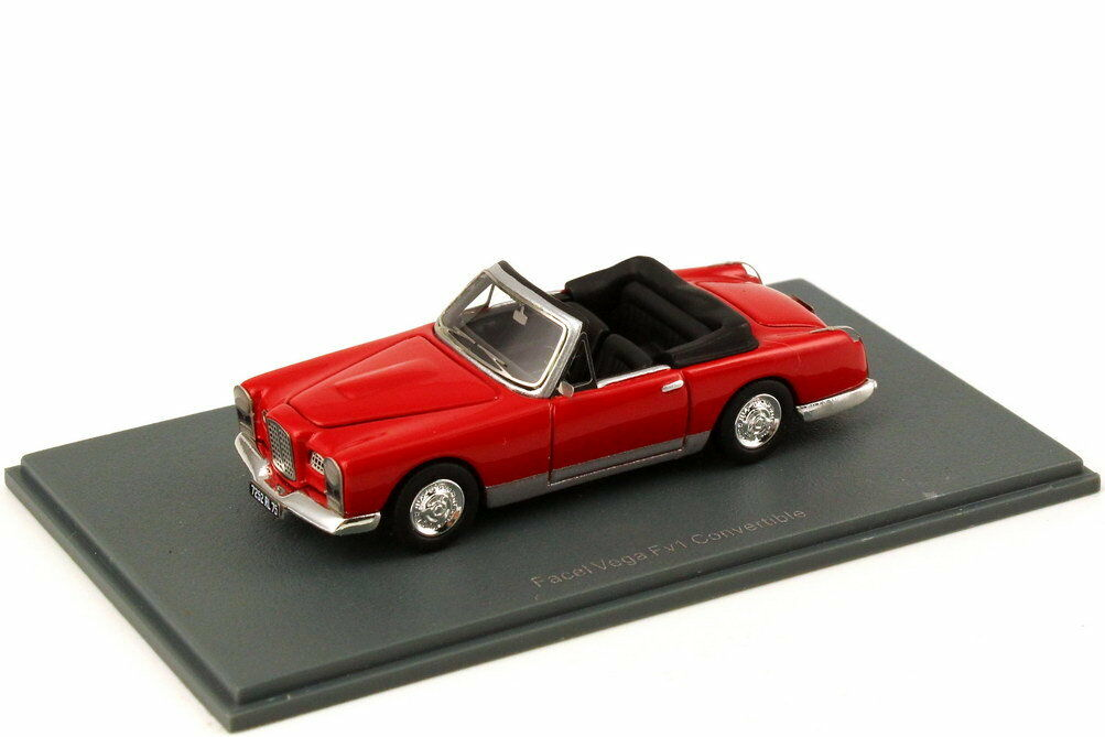 1 87 87 87 Facel Vega FV1 Cabriolet Congreenible DHC RED - Neo Scale Models 87252 b4bf4e
