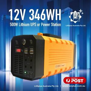 Details About 12v 31ah 500w Lithium Ups Portable Power Station Inverter For Camping Hiking 3kg