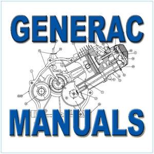 Details about GENERAC RV Generator Motorhome NP IM Engine Repair Service  Manuals -100- MANUALS
