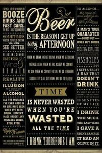 Details about Drinking Quotes Beer Alcohol Booze Typography Funny College  Poster - 24x36