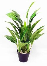 "Artificial 48/"" Spathiphyllum Peace Lily Silk Plant with Burgundy Wood Vase"