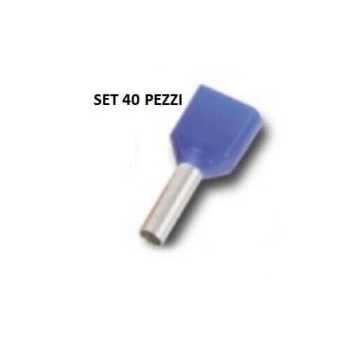 CAPOCORDA BUSSOLA 2x2,5 mmq BLU 40pz
