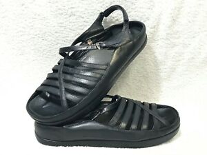 Kalso-Earth-Shoes-Women-Duet-Leather-Black-Sandals-9-5-B