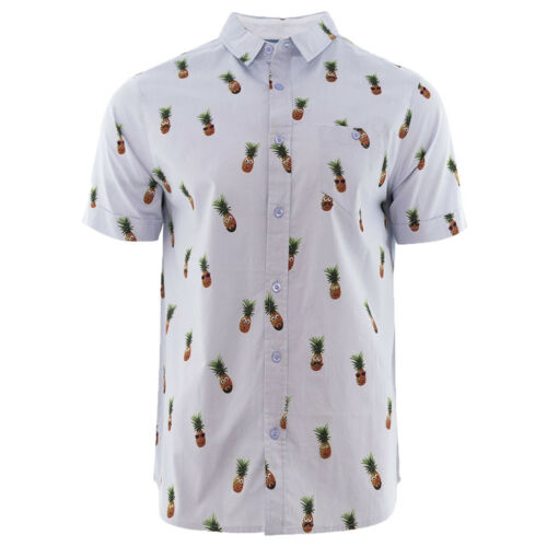 Mens Summer Casual Short Manche Shirt All Over Print by Brave Soul