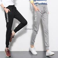 3XL Korean Womens Casual Sports Elastic Waist Harem Pencil Long Pants Trousers