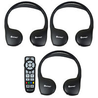 3 Headphones Headsets Uconnect Wireless + Dvd Remote Town & Country Caravan