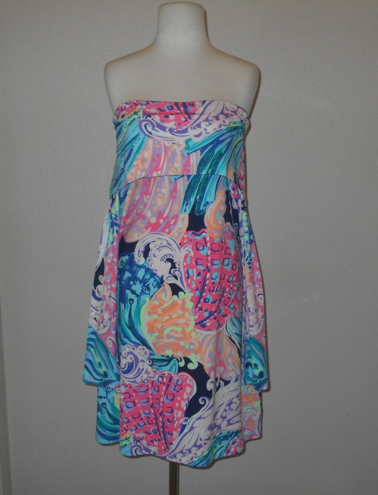 NWT LILLY PULITZER  L  TRISHA OFF THE SHOULDER DRESS  ALL THAT SHE WANTS   178
