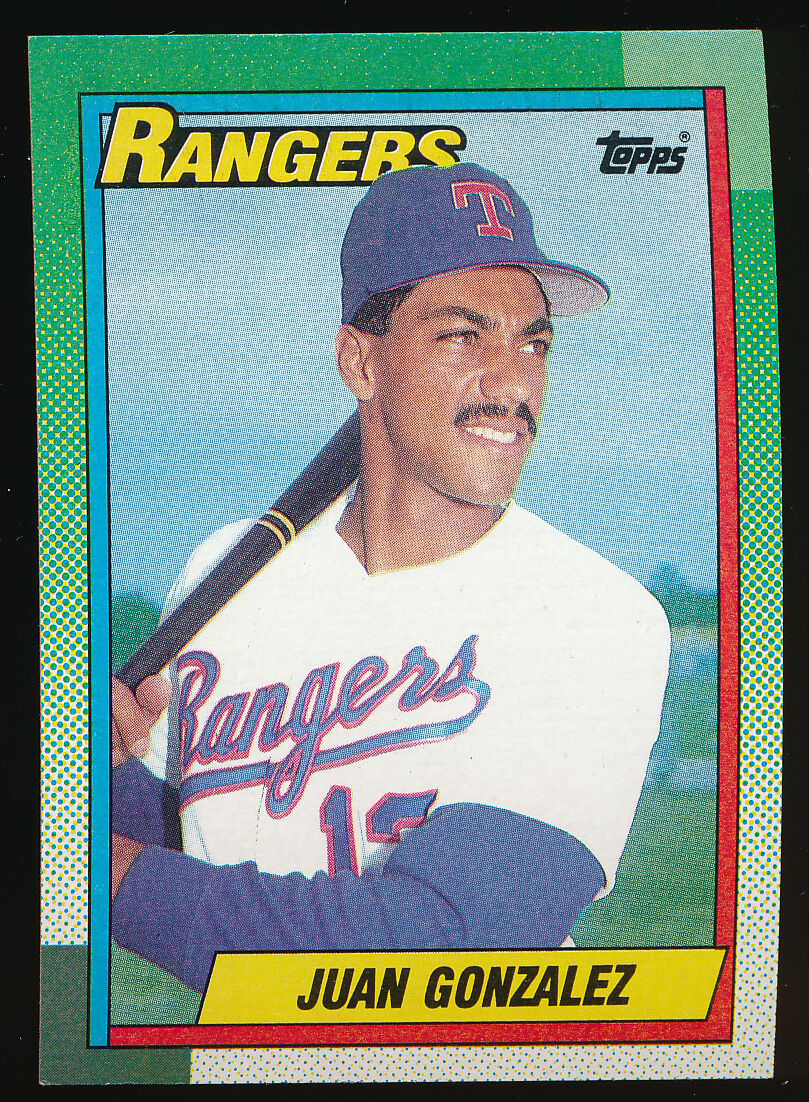 Juan Gonzalez 1990 Fleer #297 Rookie RC Baseball Cards NM//MT Lot Of 50