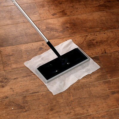 Electrostatic Static Wooden Floor Duster Cleaning Mop /& 10 Refills Wipes