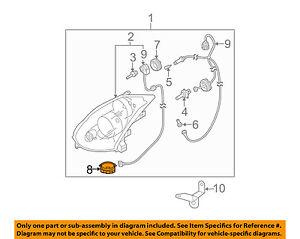 Infiniti Nissan Oem G35 Headlight Head Light Lamp Actuator Assembly