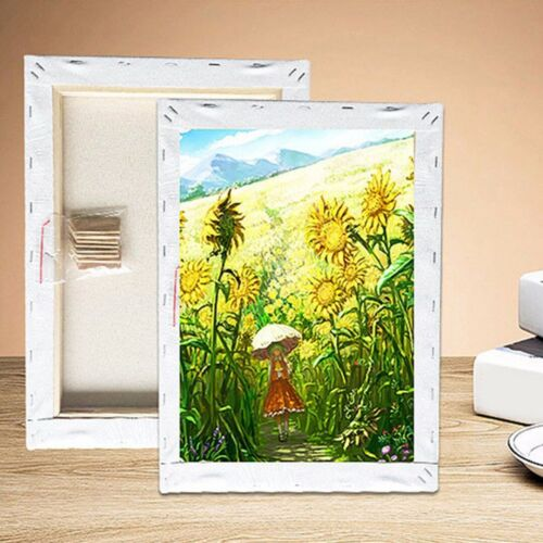 White Blank Square Art Canvas Wooden Board Frame Primed Oil Acrylic Paint 5 Size