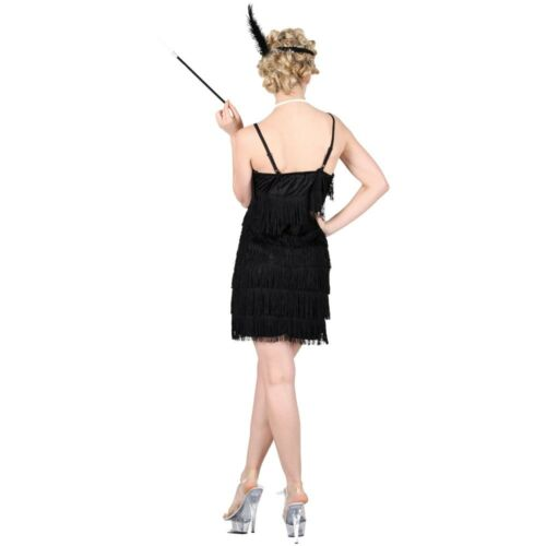 Adulto Nero CHARLESTON FLAPPER COSTUME SHORT Jazzy Donna Costume Showtime