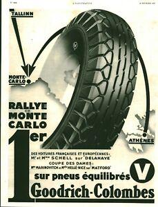 Publicite-ancienne-automobile-pneu-Goodrich-Colombes-1936-issue-de-magazine