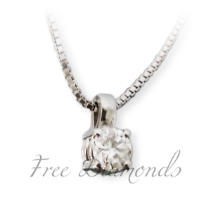 collier choker light spot white gold 18kt diamond 0,03 ct vs1 Communion