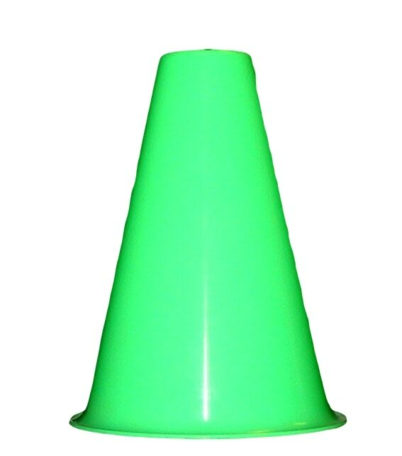 10  Lime Cheerleading Megaphones Made in America Lead Free No BPA Recyclable